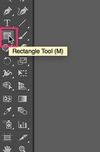 Pertama, pilih Rectangle Tool dan klik pada layar.