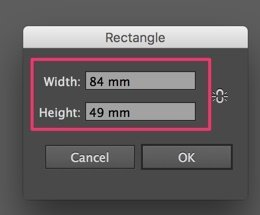 Set rectangle size to 6mm less in width and 6mm less in height than your artwork