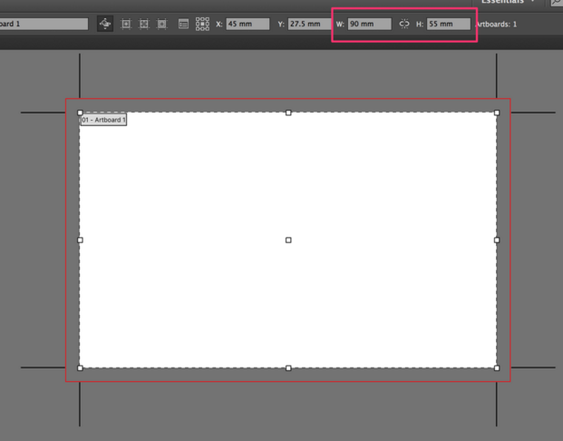 In the Artboard view, check the size of your artboard