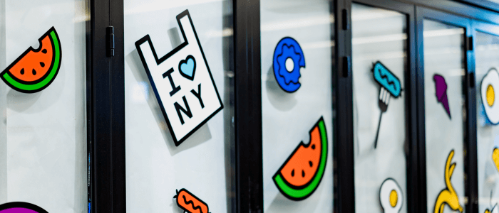Decorate your retail display with stickers